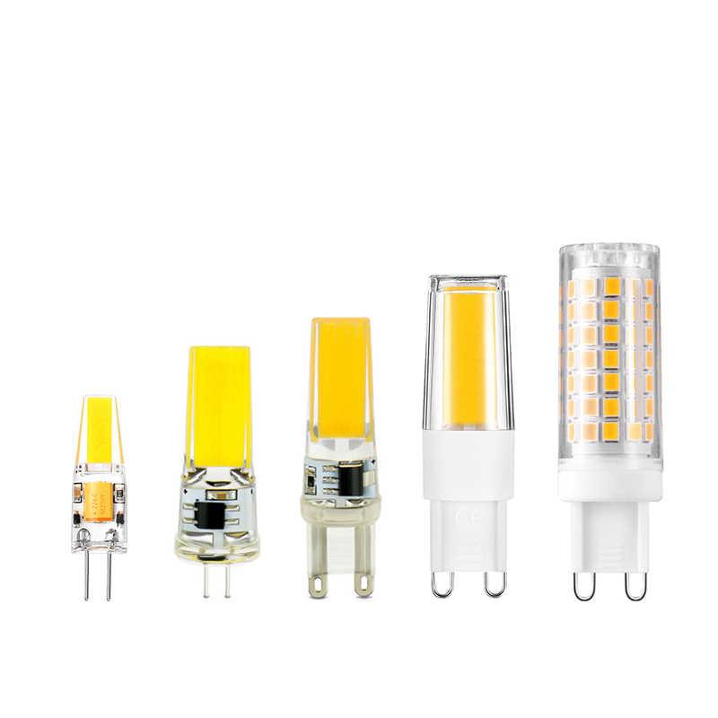 Lampada LED Lamp G9 G4 220V Bombillas LED Bulb G4 AC DC 12V COB Light Replace 10W 20W 35W 50W Halogen Spotlight Chandelier