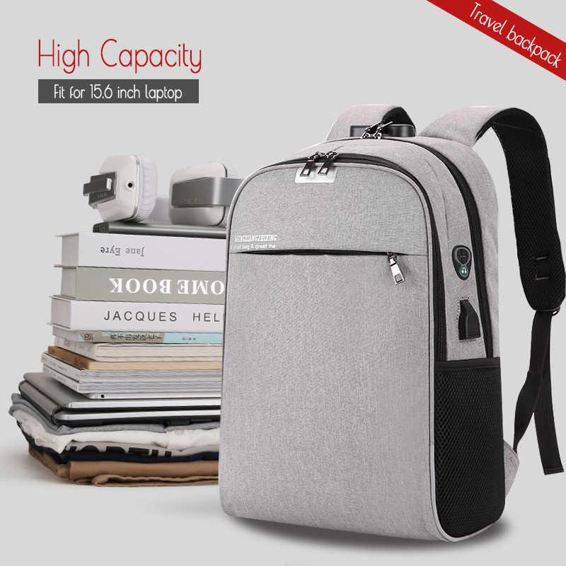 80d4d6f89106 ... WANGKA USB Charging Laptop Backpack 15.6 inch Anti Theft Women Men School  Bags For Teenage Girls ...