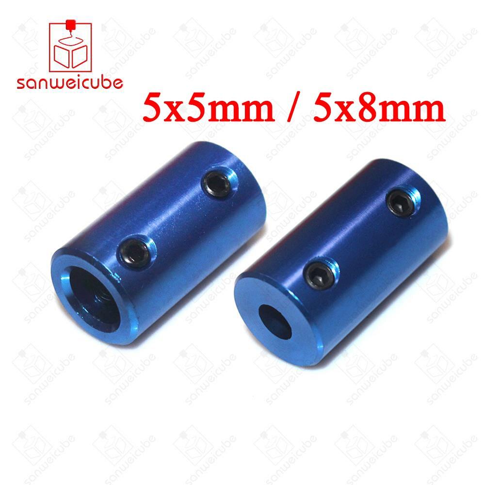 Shaft Coupler D14L25 blue flexible coupler Aluminum Coupling Bore 5x5mm 5x8mm Blue Rigid Screw Part For Stepper Motor