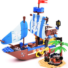 GUDI Pirate Series Port Royale Death Island Ghost Ship Models Building Blocks Sets Bricks Educational Toys for Children gift недорго, оригинальная цена