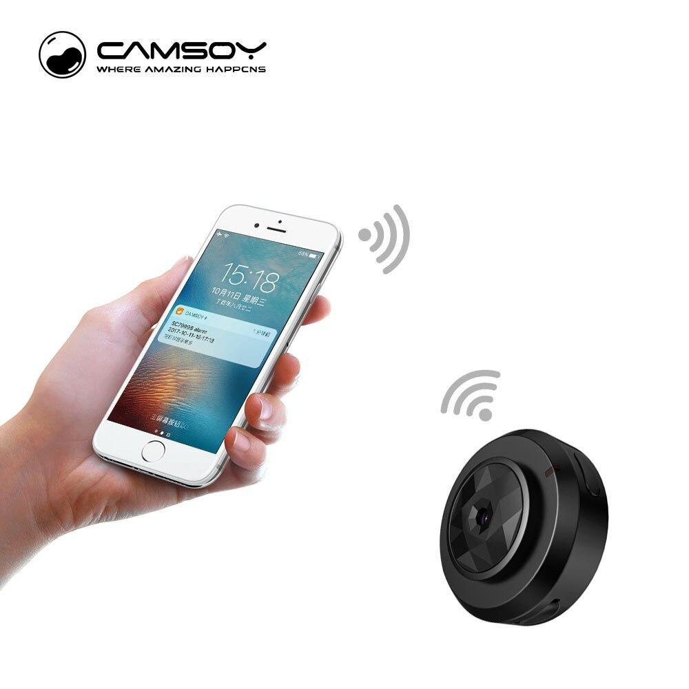 Camsoy C6 Mini Câmera para o Bebê de Segurança Em Casa IP WIFI Controle Por Telefone Celular Com câmera Night Vision HD 720 P DVR Cam Novos Gadgets 2018
