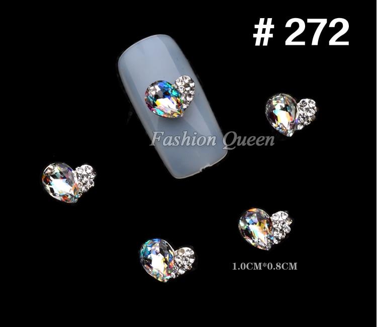 5 stks Nieuwe Topkwaliteit Glitter Rhinestone Luxe 3d Legering Nail - Nagel kunst - Foto 3