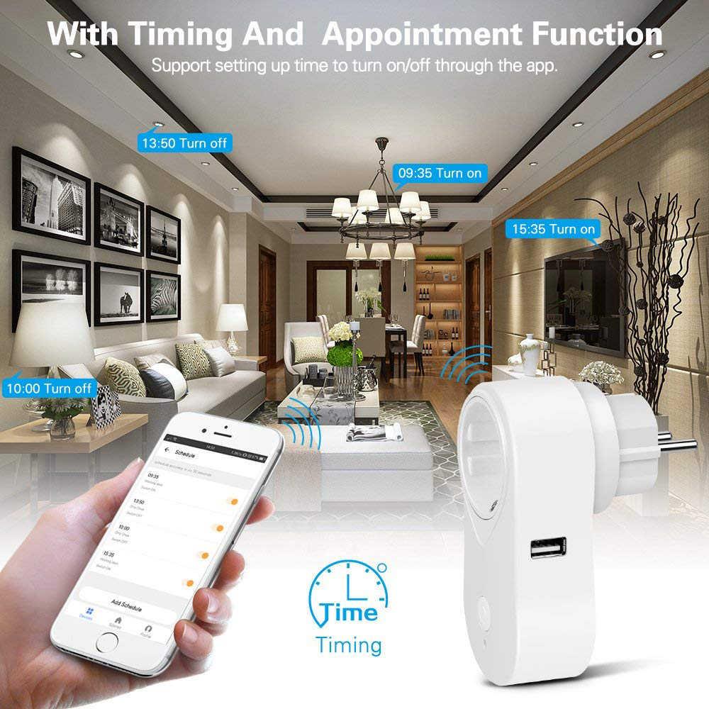 INQMEGA inteligentne gniazdo WiFi wtyczka inteligentny pilot zdalnego aplikacja bezprzewodowa pilot zdalnego sterowania dla automatyki inteligentnego domu