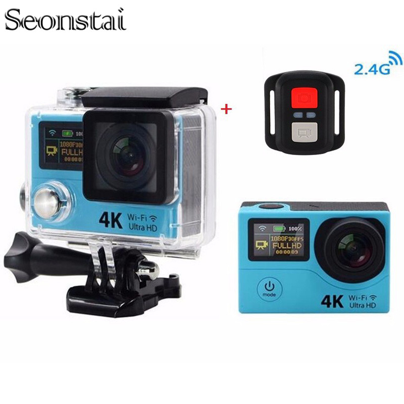 ФОТО H3 4K 25FPS Ultra SJ Plus Cam WIFI Upgrade Action Cam Two Double Dual Screen H3r Go Sport SJ Pro 4 Hero Remote Controller Camera