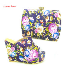 doershowShoes and Bag Sets for Women Italian Matching Shoe and Bag Set African Women Italian Shoe and Bag Set for Wedding PYS1-7