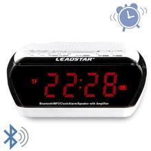 Haut-parleurs LEADSTAR Portable Sans Fil altavoz bluetooth Réveil FM Radio 3.5 pouce LED Écran Mains Libres Appels Support TF Carte