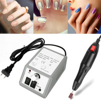 Elektrische Nail Art Boor Machine 20000 RPM Apparatuur Manicure Kit Tool Nail File Bit Schuren Band Accessoire 220 v Eu plug