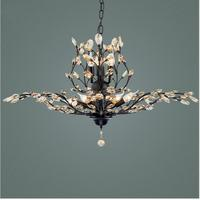 New Innovative American pastoral style crystal ceiling lamp retro lustre K9 crystal Chandelier Black /Brown luminaire
