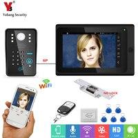 YobangSecurity Video Intercom 7 Inch Monitor Wifi Wireless Video Door Phone Doorbell KIT RFID Password Door