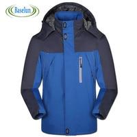 2016 Inverno Mens Impermeabile Giacca Abbigliamento Moda Antivento Con Cappuccio Cappotti Spessi Maschio Abbigliamento Plus Size Xs-5xl