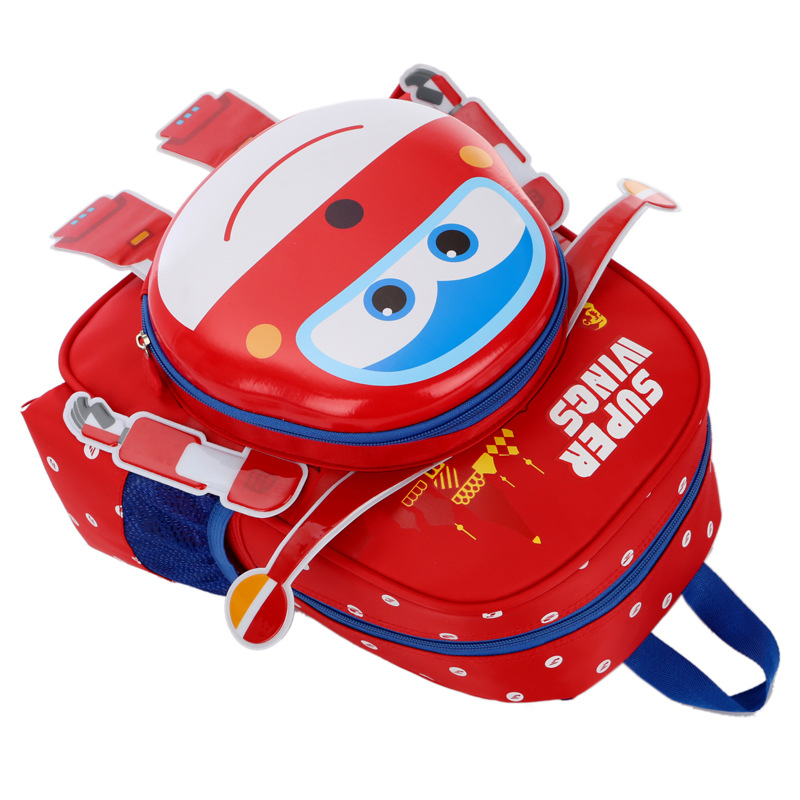 New Robot Body Backpack Kids Cartoon School Bag Backpack Children Orthopedic Super Wings Schoolbag For Boys And Girls Primary #4