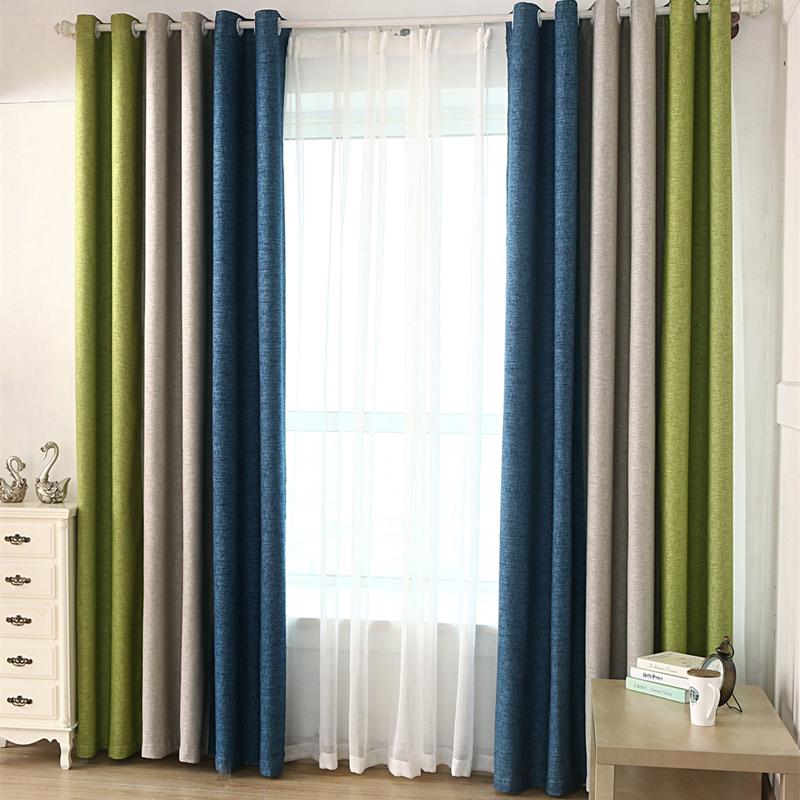 byetee telas de las cortinas de costura de algodn de lino cortina blackout cortinas