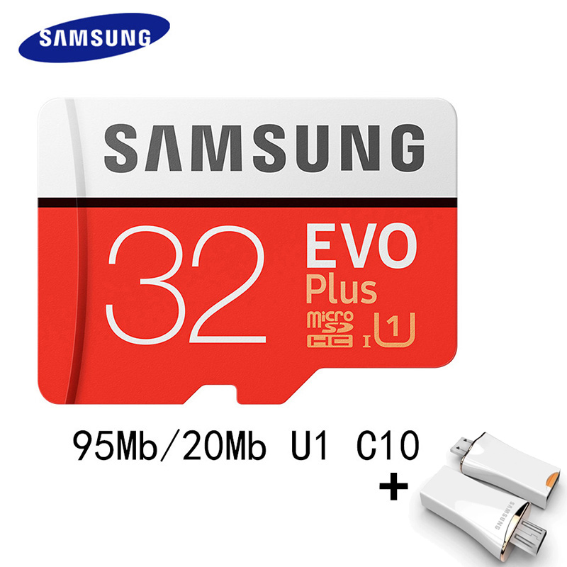 SAMSUNG Micro SD Card 64GB 100Mb/s 16GB 32GB 128GB 256GB Class10 U3 4K U1 Microsd Memory Card Flash TF Card for Phone SDHC SDXC samsung micro sd card 16gb 32gb 64gb 128gb 256gb 100mb s flash memory card tf card with mini sdhc sdxc class10 u3 free adapter