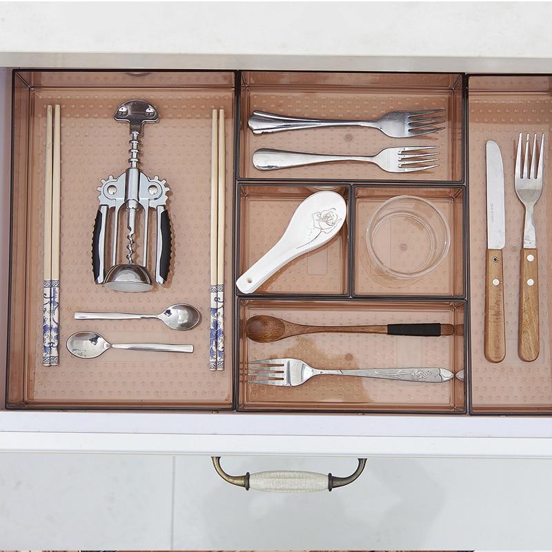Hause Schublade Lagerung Box desktop Trennung geschirr Lagerung Box  Kosmetik Make-Up Organizer Küche Schublade Organizer Fall