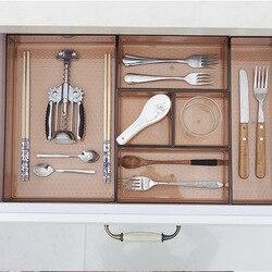Home Drawer Storage Box desktop Separating tableware Storage Box Cosmetic Makeup Organizer Kitchen Drawer Organizer Case