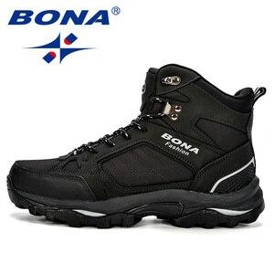 Image 5 - BONA Men Boots Anti Skidding Leather Shoes Men Popular Comfy Spring Autumn Men Shoes Short Plush Snow Boots Durable Outsole