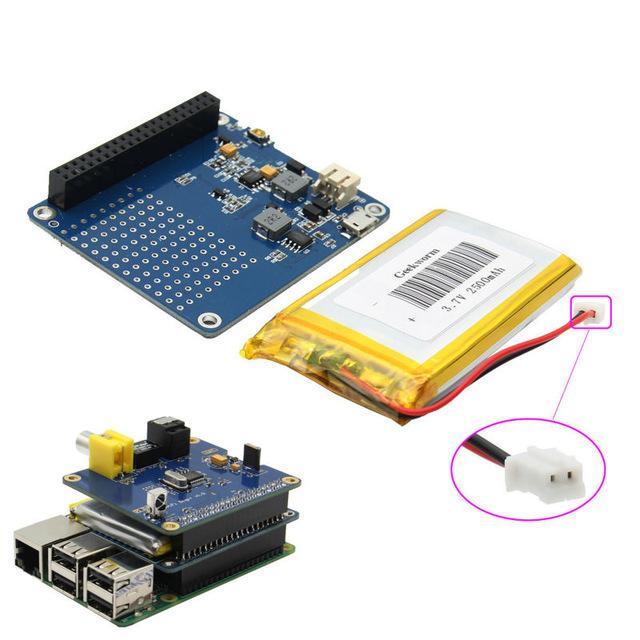 UPS SOMBRERO con Batería para Raspberry Pi 3 Modelo B/2B/B + | Frambuesa Adaptador de Batería Fuente de Alimentación | Potencia | EU Pi Pi 3