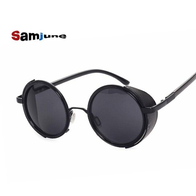 4b0277f5e 2016 novo HOMEM DE FERRO 3 TONY STARK óculos de Sol Homens steampunk espelhado  Óculos punk