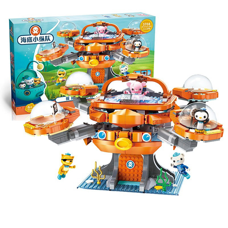 Enlighten The Octonauts Series Les Octopus Octopod Model Figure Blocks Construction Building Toys For Children Christmas