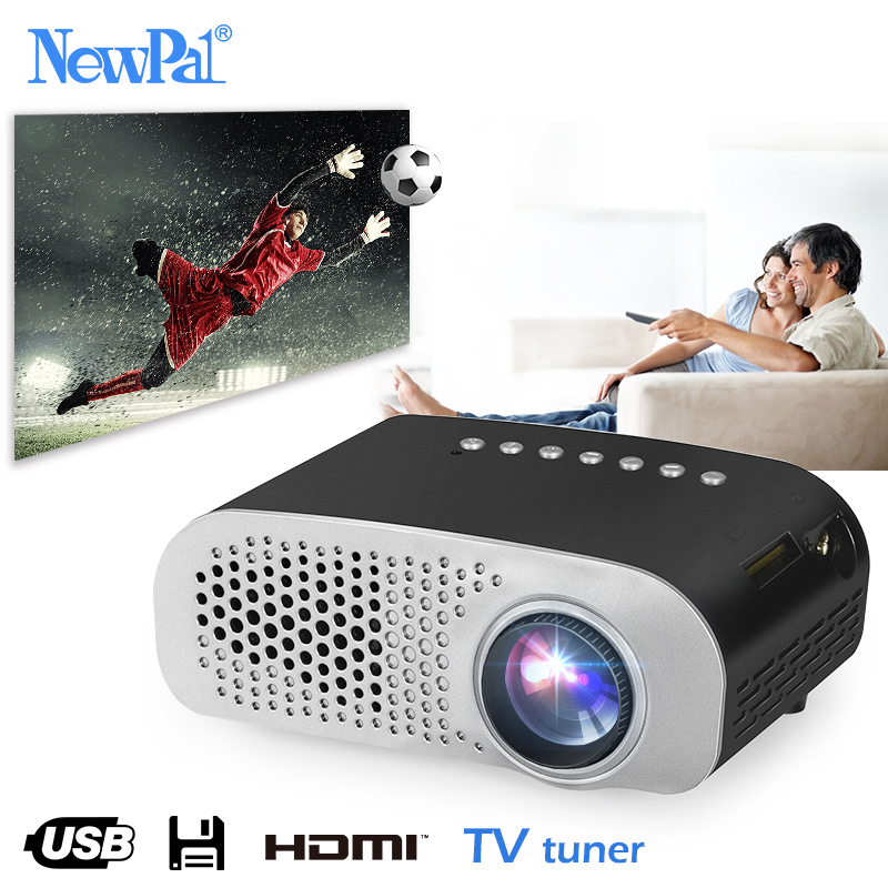 Newpal LED Projector GP802A Home Beamer for Kids 1920*1080P HD Mini Projector Support SD HDMI USB uc40 55whd 1080p mini home 1080p led projector 50lm w hdmi av sd usb
