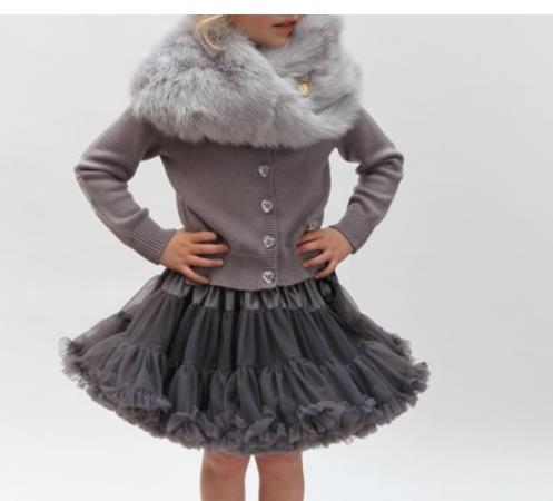Mädchen Kleidung Kinder Mädchen Dancewear Nette Chiffon Tutu Pettiskirt Dunkelgrau Prinzessin Rock 0-10y Petticoat Kleidung Ruf Zuerst