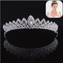 Fashion Shining Rhinestone Queen Crown Headband Tiara Women Wedding Bride Bridesmaid Hair Jewelry