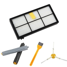 13Pcs/Lot Filters Brushes Replacement Parts Kit For Irobot Roomba 980 990 900 896 886 870 865 866 800 Accessories Kit for irobot roomba parts kit series 800 860 865 866 870 871 880 885 886 890 900 960 966 980 brushes and filters