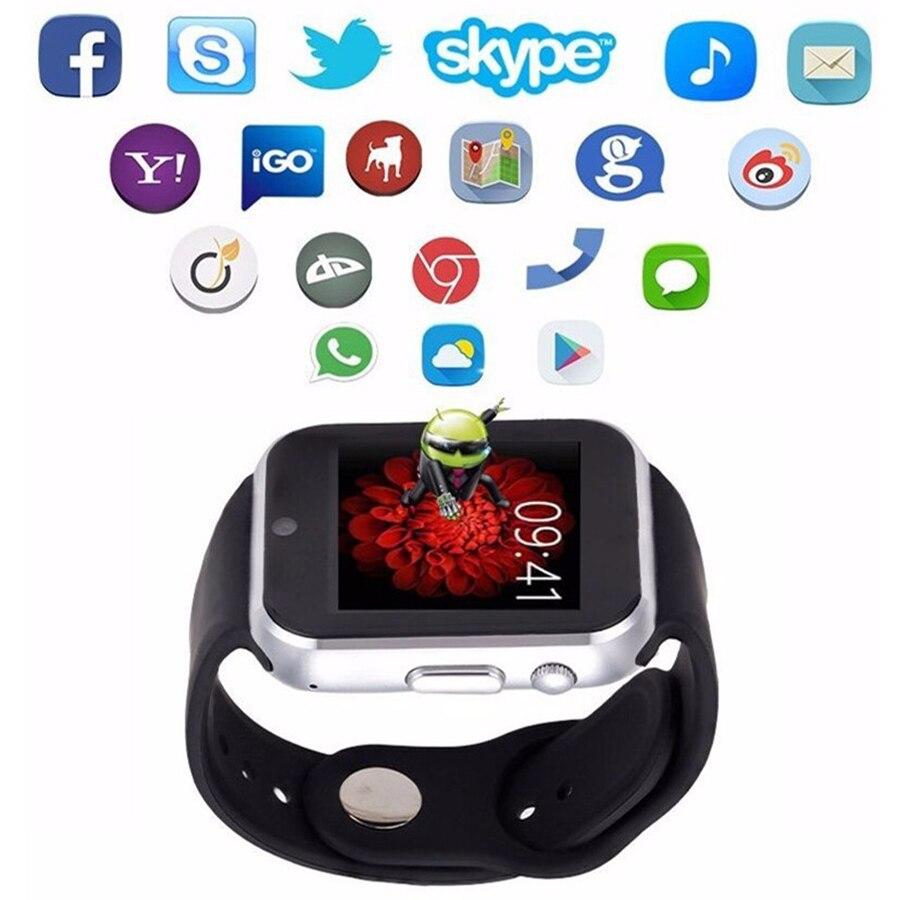 imágenes para Loco gw05 real smart watch android 4.4 mtk6572 dual core 512 mb de ram 4 GB Rom GPS WIFI 3G Tarjeta Sim Soporte Para IOS Android móviles