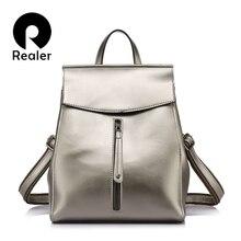REALER бренд женский рюкзак высокого качества Коровья кожа Сплит рюкзаки женские сумки на плечо женская школьная сумка для девочки-подростка