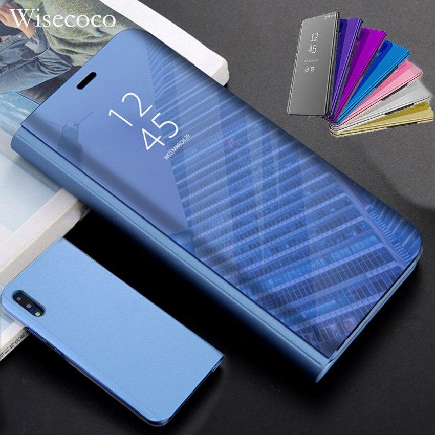 Tocco di Vibrazione Del Basamento di Caso per Huawei P20 P10 Compagno di 20 10 9 Pro P Smart Più Nova 3i 3e Lite nota 10 Y6 Prime Y5 Y9 2018 Copertura Dello Specchio