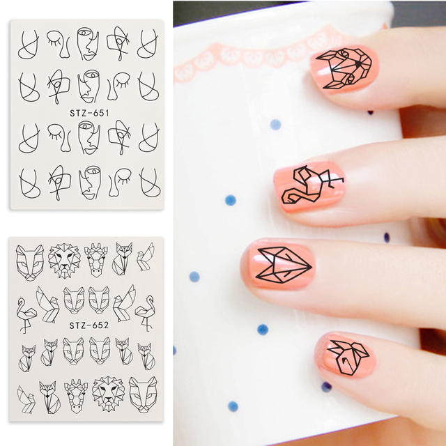 5Sheets/Set Animal Designs Nail Decals Cartoon Water Stickers For ...