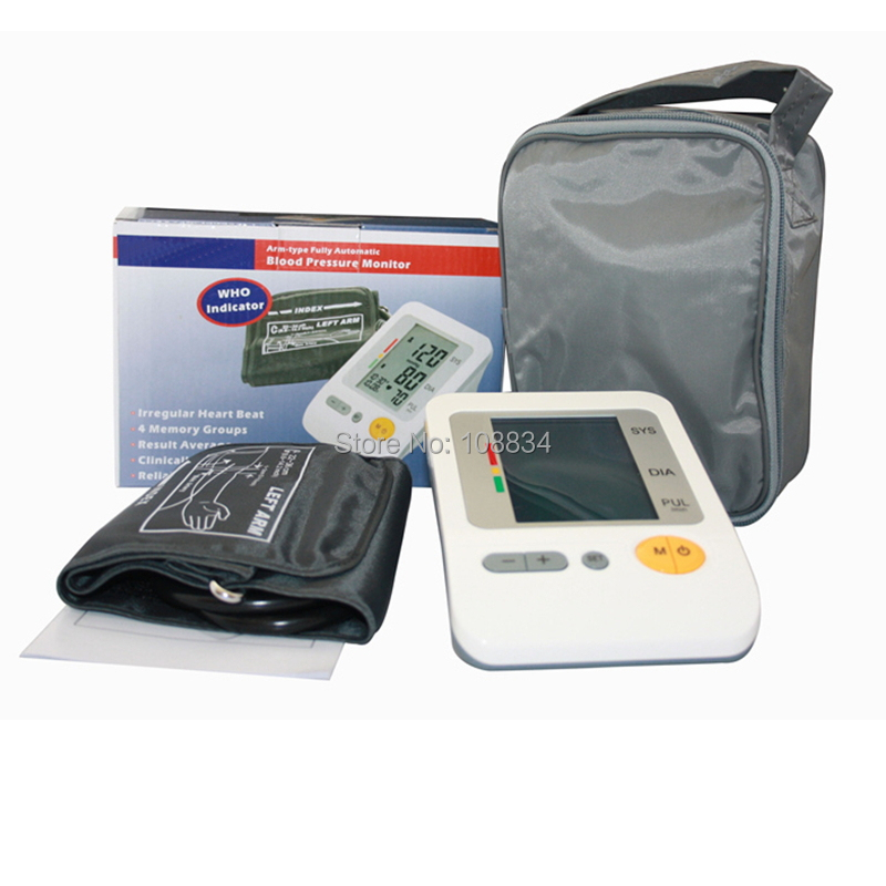 Portable Home Digital Arm Blood Pressure Monitor, Heart Beat Meter, with LCD Display AH-216 Automatic Pressurization digital indoor air quality carbon dioxide meter temperature rh humidity twa stel display 99 points made in taiwan co2 monitor