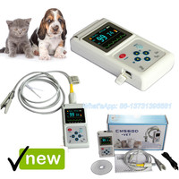 CONTEC Vet Veterinary pulse oximeter Handheld SPO2 Pr monitor Vet Tongue,Ear Probe CMS60D Vet