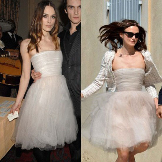 Custom Made Keira Knightley A Line Strapless Mini Short Tulle Pretty Celebrity Dresses Lady Formal Wear Hot Drop Shipping In Tail From