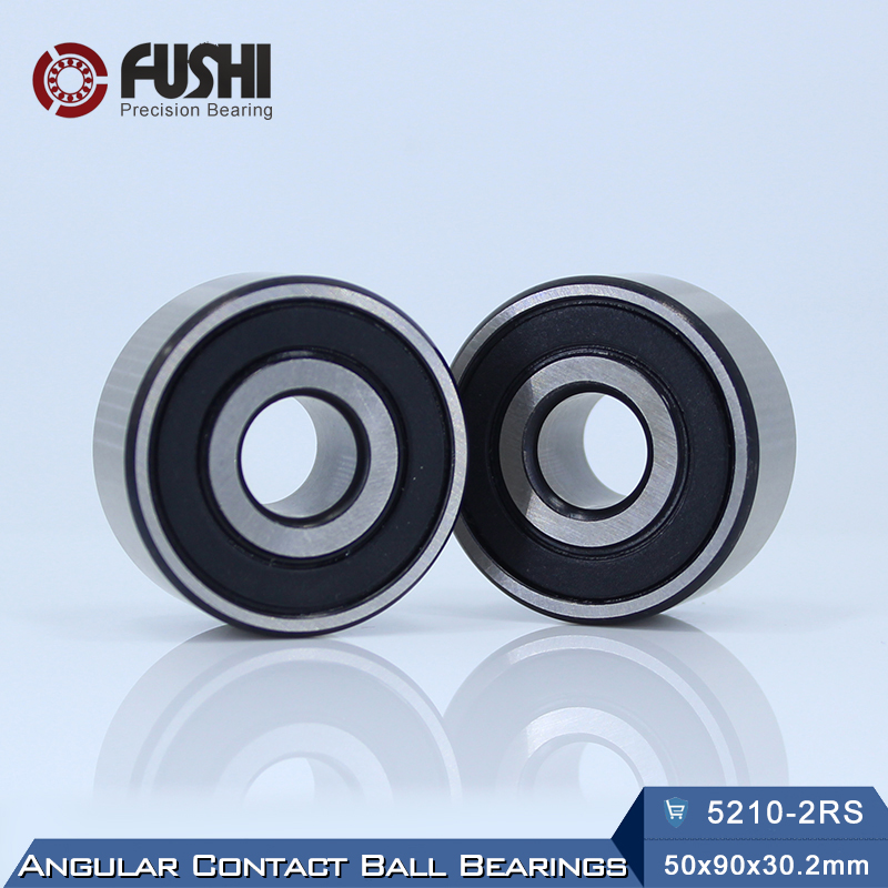 5210 2RS Bearing 50 x 95 x 30.2 mm ( 1 PC ) Axial Double Row Angular Contact 5210RS 3210 2RS 3056210 Ball Bearings