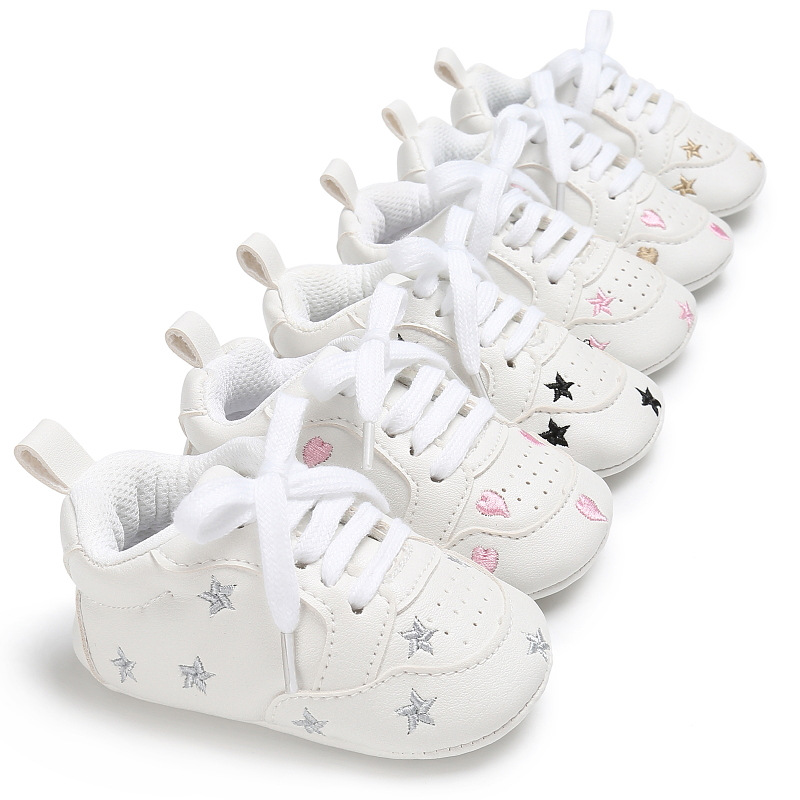 PU Stars Sports Spring And Autumn New Men And Women Baby Baby Boys And Girls Baby Soft Bottom Non-slip Shoes Children's Shoes
