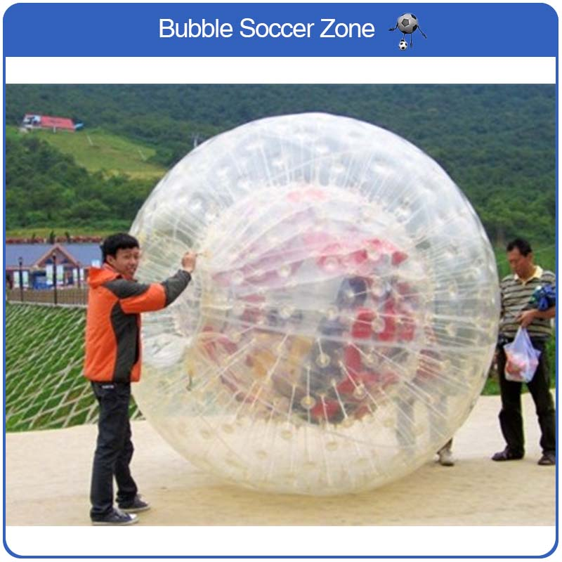 Free Shipping 2.5m Inflatable Zorb Ball Giant Inflatable Balloons Outdoor Transparent Ball Human Zorb Ball free shipping crazy 100% pvc inflatable human loopy ball human plastic ball for sale