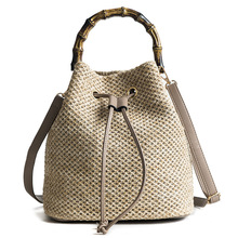 Crossbody Bags for Women  Ladies Hand 2018 Drum-shaped Woven Lady Bag Luxury Handbags Designer
