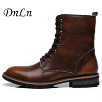 Retro Fashion Ankle Boots Winter Autumn Men'S Motorcycle Martin Boots Men Oxfords Shoes Leather 20D50