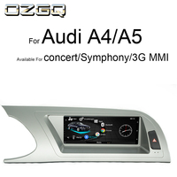 OZGQ 3G MMI Android Octa Core Car Multimedia Player Headunit Autoradio GPS Navigation For Audi 2009 2016 A4/S4/A5/S5 With Map
