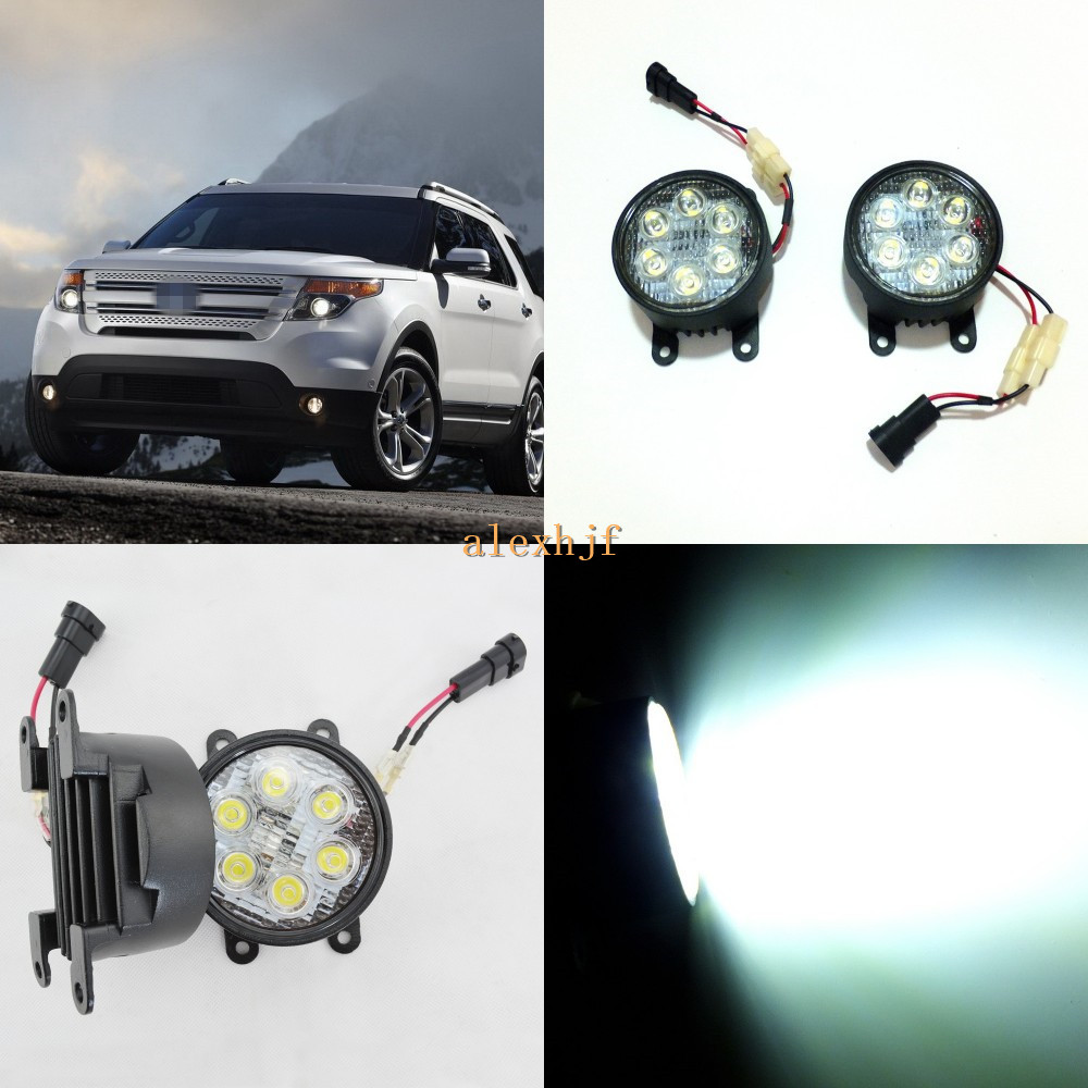 July King 18W 6LEDs H11 LED Fog Lamp Assembly Case for Ford Explorer 2011~2015, 6500K 1260LM LED Daytime Running Lights смартфон lenovo vibe c2 8gb k10a40 white