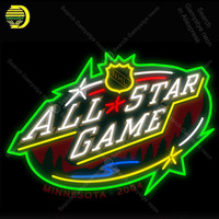 NEON SIGN For All Star Game NH NEON Lamp BuReal GLASS Tube Decor beer Windows Handcraft lamps anuncio luminoso with Print board