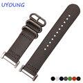 Для suunto core ремень 24 мм качество нато нейлон ремешок для часов с адаптером черный синий браслет