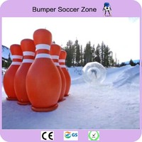 Free Shipping 6 Pieces Lot And 1 Piece Zorb Ball Inflatable Human Bowling Game Zorb Ball For Bowling Free With 1 Pump