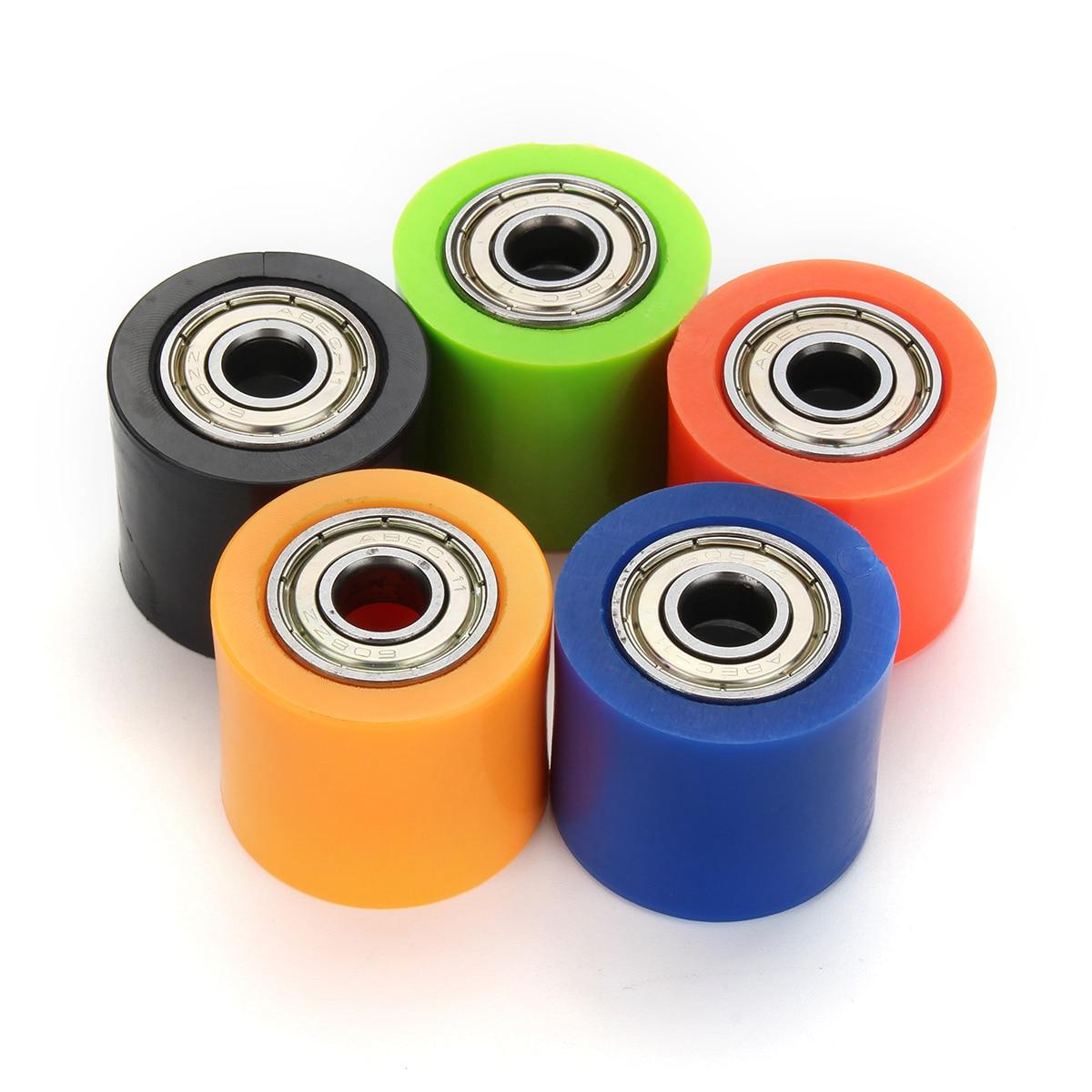 8 мм цепи роликовый шкив слайдер колесо для натяжки руководство для Пит грязь мини велосипед ATV отличаются цвет 28x32