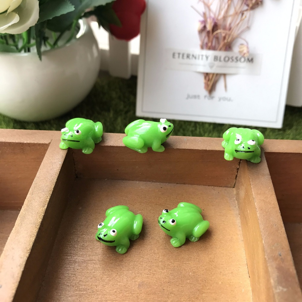 20pcs resin frogs fairy garden Garden Miniature Craft Micro ...