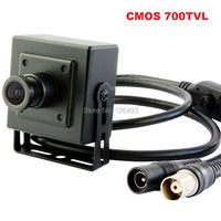 Free Shipping Indoor Surveillance Cctv Security Cmos700tvl Mini CCD Camera With 3 6mm Lens Can Install