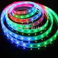 5m 6803 IC 5050 RGB LED Strip,150LED IP67 tube waterproof 12V dream colour Led Strip,30LED/m + free shipping