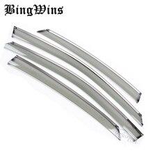BINGWINS Windows visor car styling Car Stylingg Awning Shelters Rain Sun Window Visors For Honda City 2011 2012 2013 Covers Stic