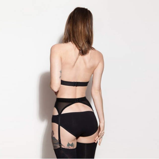 Ultrathin Suspender Belt Sheer Thigh High Silk Stockings